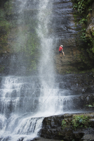 Rappelling on Juan Curi waterfall, adventure sports capital of Colombia, San Gil, Colombia, South America 20025365487| 写真素材・ストックフォト・画像・イラスト素材|アマナイメージズ
