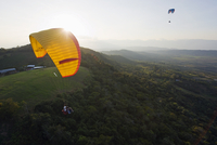 Paragliding in San Gil, adventure sports capital of Colombia, San Gil, Colombia, South America 20025365491| 写真素材・ストックフォト・画像・イラスト素材|アマナイメージズ