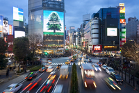 The famous Shibuya Crossing intersection at the centre of Shibuya's fashionable shopping and entertainment district, Shibuya, To 20025366090| 写真素材・ストックフォト・画像・イラスト素材|アマナイメージズ