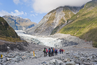 Tourists on Fox Glacier tour, Westland National Park, UNESCO World Heritage Site, South Island, New Zealand, Pacific 20025377546| 写真素材・ストックフォト・画像・イラスト素材|アマナイメージズ