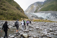 Tourists on Fox Glacier trek, Westland National Park, UNESCO World Heritage Site, South Island, New Zealand, Pacific 20025377548| 写真素材・ストックフォト・画像・イラスト素材|アマナイメージズ