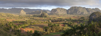Panoramic view of Vinales Valley, UNESCO World Heritage Site, from Hotel Los Jasmines, early morning, Vinales, Pinar Del Rio Pro 20025377930| 写真素材・ストックフォト・画像・イラスト素材|アマナイメージズ