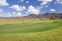 Golf course, Las Playitas, Fuerteventura, Canary Islands, Spain, Europe