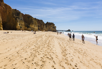 People on Beach, Praia da Rocha, Algarve, Portugal