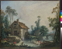Landscape with a Watermill 20036000448| 写真素材・ストックフォト・画像・イラスト素材|アマナイメージズ