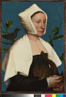 A Lady with a Squirrel and a Starling (Anne Lovell?) 20036000562| 写真素材・ストックフォト・画像・イラスト素材|アマナイメージズ