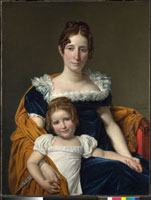 Portrait of the Comtesse Vilain XIIII and her Daughter 20036000563| 写真素材・ストックフォト・画像・イラスト素材|アマナイメージズ