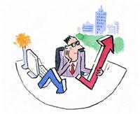 矢印とビジネスマン 20037001011| 写真素材・ストックフォト・画像・イラスト素材|アマナイメージズ