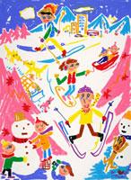 スキーをする人々 20037001338| 写真素材・ストックフォト・画像・イラスト素材|アマナイメージズ