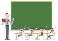 小学校の教室風景 20037001776| 写真素材・ストックフォト・画像・イラスト素材|アマナイメージズ