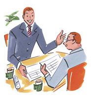 商談するビジネスマン2人 20037002254| 写真素材・ストックフォト・画像・イラスト素材|アマナイメージズ