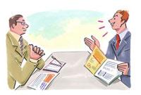 商談するビジネスマン2人 20037002255| 写真素材・ストックフォト・画像・イラスト素材|アマナイメージズ