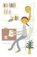勉強をする女の子 20037002537| 写真素材・ストックフォト・画像・イラスト素材|アマナイメージズ