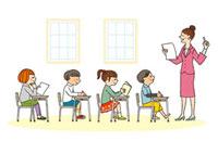 教室の授業風景 20037005144| 写真素材・ストックフォト・画像・イラスト素材|アマナイメージズ