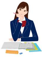 勉強をする女子学生 20037005449| 写真素材・ストックフォト・画像・イラスト素材|アマナイメージズ