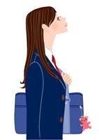 上を見上げる女子学生 20037005451| 写真素材・ストックフォト・画像・イラスト素材|アマナイメージズ