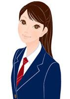 こちらを見つめる女子学生 20037005452| 写真素材・ストックフォト・画像・イラスト素材|アマナイメージズ