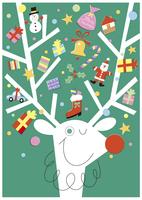 トナカイのクリスマスツリー 20037005713| 写真素材・ストックフォト・画像・イラスト素材|アマナイメージズ