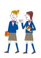 話をする女子学生 20037007230| 写真素材・ストックフォト・画像・イラスト素材|アマナイメージズ