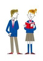 話をする男女学生 20037007231| 写真素材・ストックフォト・画像・イラスト素材|アマナイメージズ