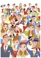 たくさんの人々 20037007976  写真素材・ストックフォト・画像・イラスト素材 アマナイメージズ