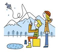 釣りをするカップル 20037008120| 写真素材・ストックフォト・画像・イラスト素材|アマナイメージズ