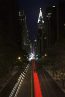 Chrysler building illuminated at night from the East Side 20038011625| 写真素材・ストックフォト・画像・イラスト素材|アマナイメージズ