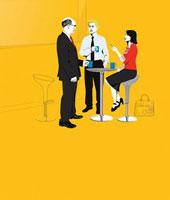Businesspeople on coffee break 20039000232| 写真素材・ストックフォト・画像・イラスト素材|アマナイメージズ