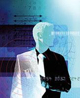 Businessman reaching into coat 20039000984  写真素材・ストックフォト・画像・イラスト素材 アマナイメージズ