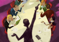 Business people having meeting in conference room 20039002296| 写真素材・ストックフォト・画像・イラスト素材|アマナイメージズ