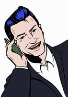 Happy businessman talking on the phone 20039008195  写真素材・ストックフォト・画像・イラスト素材 アマナイメージズ