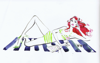 Woman in bikini relaxing on beach towel with cocktail and digital tablet 20039008364| 写真素材・ストックフォト・画像・イラスト素材|アマナイメージズ