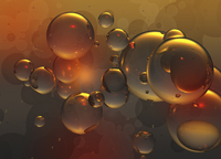 Abstract backgrounds pattern of shiny gold bubbles 20039010185| 写真素材・ストックフォト・画像・イラスト素材|アマナイメージズ
