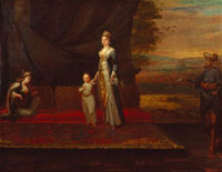 Lady Mary Wortley Montagu with her son,Edward Wortley Monta 20043001244| 写真素材・ストックフォト・画像・イラスト素材|アマナイメージズ