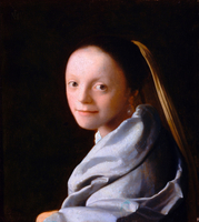 Study of a Young Woman by Vermeer, Jan (Johannes) (1632-1675 20044000761| 写真素材・ストックフォト・画像・イラスト素材|アマナイメージズ