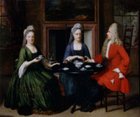 Two Ladies and An Officer Seated at Tea, by Nicolaes Jansz 20048000376| 写真素材・ストックフォト・画像・イラスト素材|アマナイメージズ