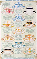 Tea service catalogue page, from The Fenton Pottery Co. Sto 20048001686| 写真素材・ストックフォト・画像・イラスト素材|アマナイメージズ