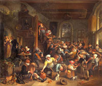 The egg dance, peasants merrymaking in an Inn, by Jan Steen 20048001924| 写真素材・ストックフォト・画像・イラスト素材|アマナイメージズ