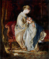 The Young Mother, by Charles West Cope. England, mid-19th c 20048002167| 写真素材・ストックフォト・画像・イラスト素材|アマナイメージズ