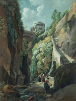 View in the Island of Capri, with Women washing Clothes, by 20048002499| 写真素材・ストックフォト・画像・イラスト素材|アマナイメージズ