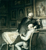 The Print Collectors, by Honore Daumier. France, 19th centu 20048002623| 写真素材・ストックフォト・画像・イラスト素材|アマナイメージズ