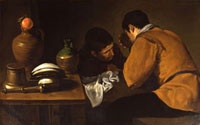 Two Men at a Table, by Diego Velazquez. Seville, Spain, 17t 20048004810| 写真素材・ストックフォト・画像・イラスト素材|アマナイメージズ