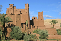 Kasbah / casbah of Ait Benhaddou / Ksar of Ait-Ben-Haddou, fortified city in Souss-Massa-Draa, Morocco, North Africa. (Photo by: 20053014929| 写真素材・ストックフォト・画像・イラスト素材|アマナイメージズ