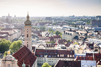 Munich overview with Church of the Holy Spirit in front 20055032858| 写真素材・ストックフォト・画像・イラスト素材|アマナイメージズ