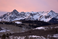 Mears Peak and the Sneffels Range in the winter, Uncompahgre National Forest, Colorado, United States of America, North America 20062000499| 写真素材・ストックフォト・画像・イラスト素材|アマナイメージズ