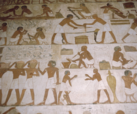 Depictions of everday life, Tomb of Renhuire, Thebes, Egypt 20062002846| 写真素材・ストックフォト・画像・イラスト素材|アマナイメージズ