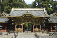 Rinnoji Taiyuin Temple, Nio-mon Gate, Nikko Temples, UNESCO World Heritage Site, central Honshu, Japan 20062006214| 写真素材・ストックフォト・画像・イラスト素材|アマナイメージズ