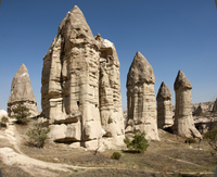 Natural pinnacles in volcanic ash, Zemi Valley, Goreme, UNESCO World Heritage Site, Cappadocia, Anatolia, Turkey, Asia Minor, Eu 20062006425| 写真素材・ストックフォト・画像・イラスト素材|アマナイメージズ