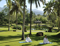 Yoga at The Farm Health and Spa Resort in Batangas, Philippines, Southeast Asia, Asia