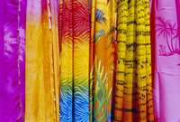 Colourful clothes hanging in a shop, St. Lucia, Windward Islands, West Indies, Caribbean, Central America 20062011569| 写真素材・ストックフォト・画像・イラスト素材|アマナイメージズ